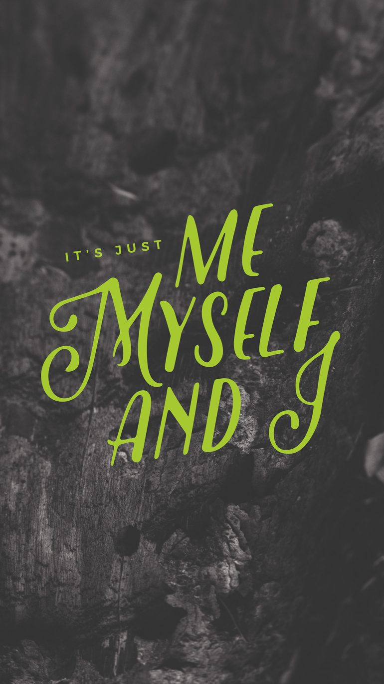 lockscreens no. 97 – me, myself, and I