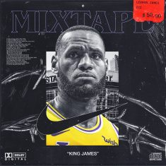 Album Art Concept for Lebron James | Mixtape | NBA