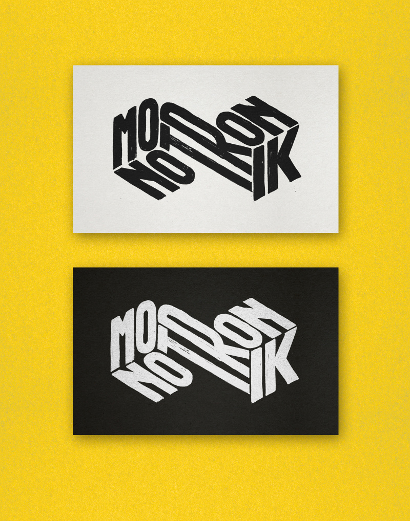 Logo for Monotronik, a House/Techno DJing and producing duo from Portugal.