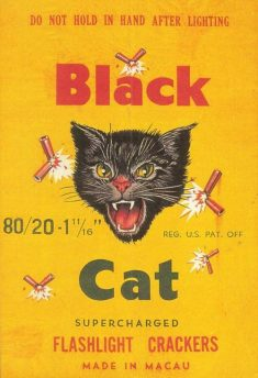 BLACK CAT CL2 80/20s Firecracker Brick Label Reproduction.