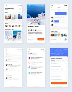Travel App Free UI Kit Sketch