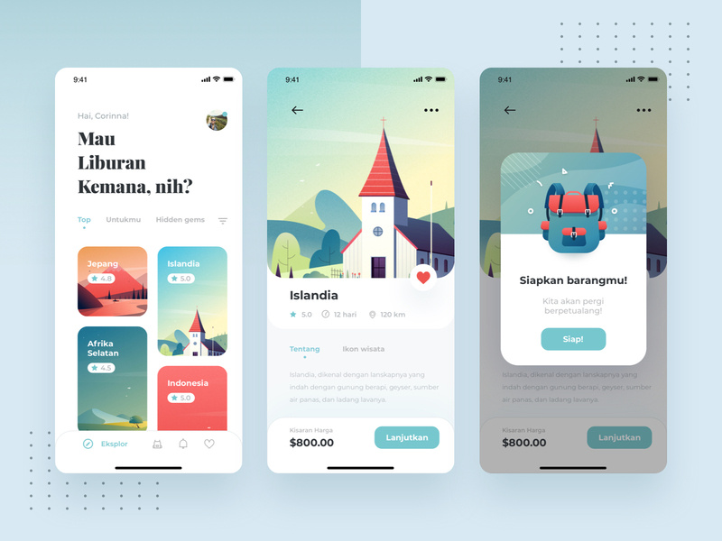 Traveling App by Cal Esatama for Paperpillar