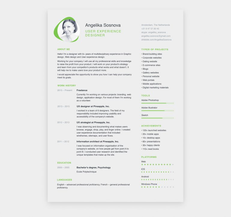 Two Résumé Templates