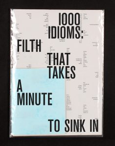 1000 idioms, poster and booklet conceived by Paulius Ka and designed by Laura Klimaite