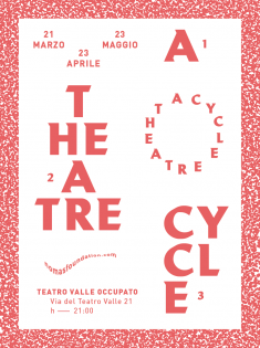 Teatro Valle Occupato, poster submitted and designed by Giandomenico Carpentieri