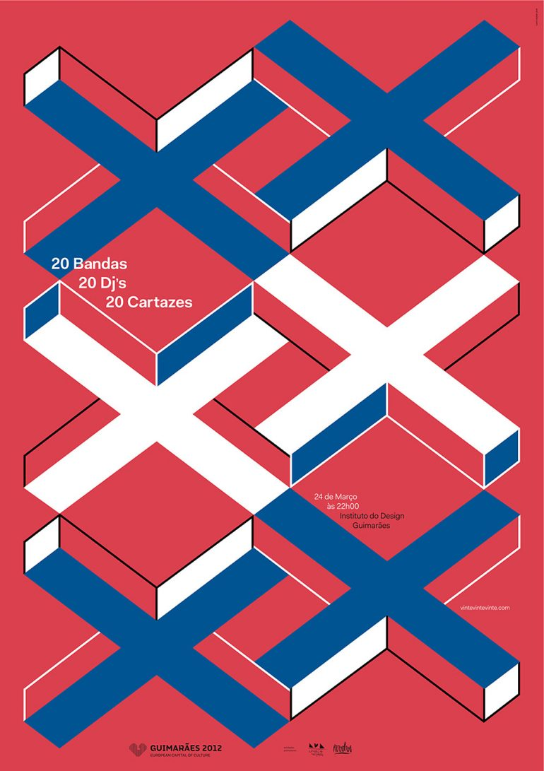 20 vinte XX, poster designed by And atelier (2012)