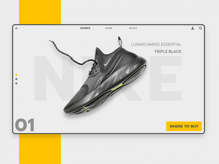 UI for Nike Lunarcharge