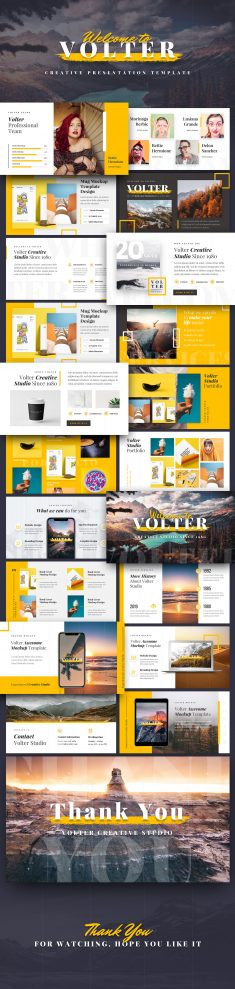 Volter – Creative Keynote Template