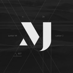Wonderful MJ monogram design