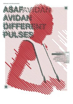 Asaf Avidan – Different Pulses Screen Printed poster