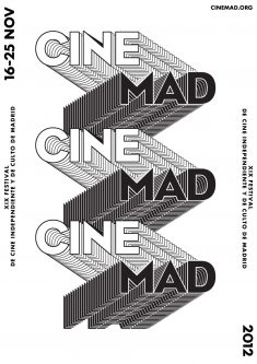 2012 Cinemad Film Festival Poster Design in Madrid
