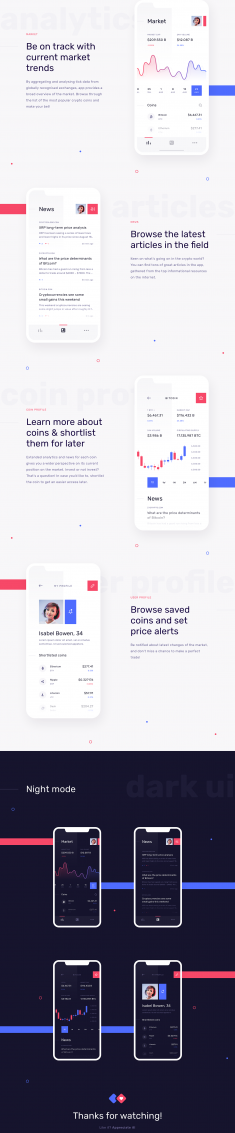 Cryptolytics – Mobile app concept