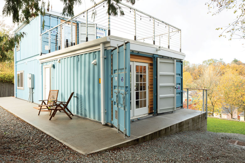 Delridge Resident Makes House in a Shipping Container