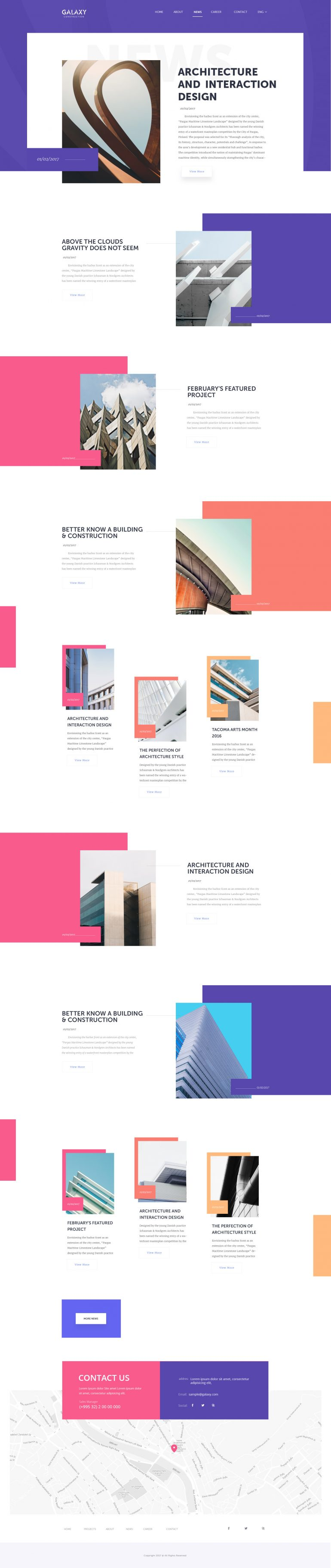 Articles Page For Architecture Website