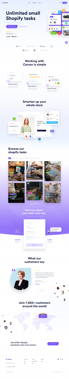 Carson – Landing page