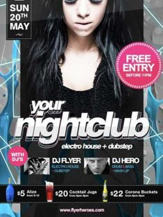 Free Nightclub Flyer Template download free psd club flyer