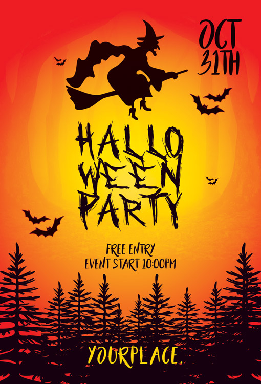 Halloween Party Card Design | Creative Photoshop PSD