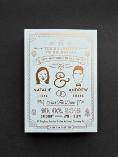 Invitation card / Natalie & AnDrew Wedding