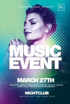 Music Event Flyer PSD Template