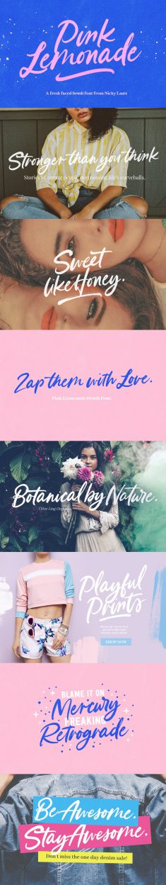 Pink Lemonade Brush Font