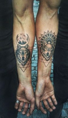 New tattoo couple wolf Ideas #tattoo
