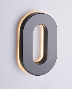 Backlit LED House Numbers (8 Inch White) Big