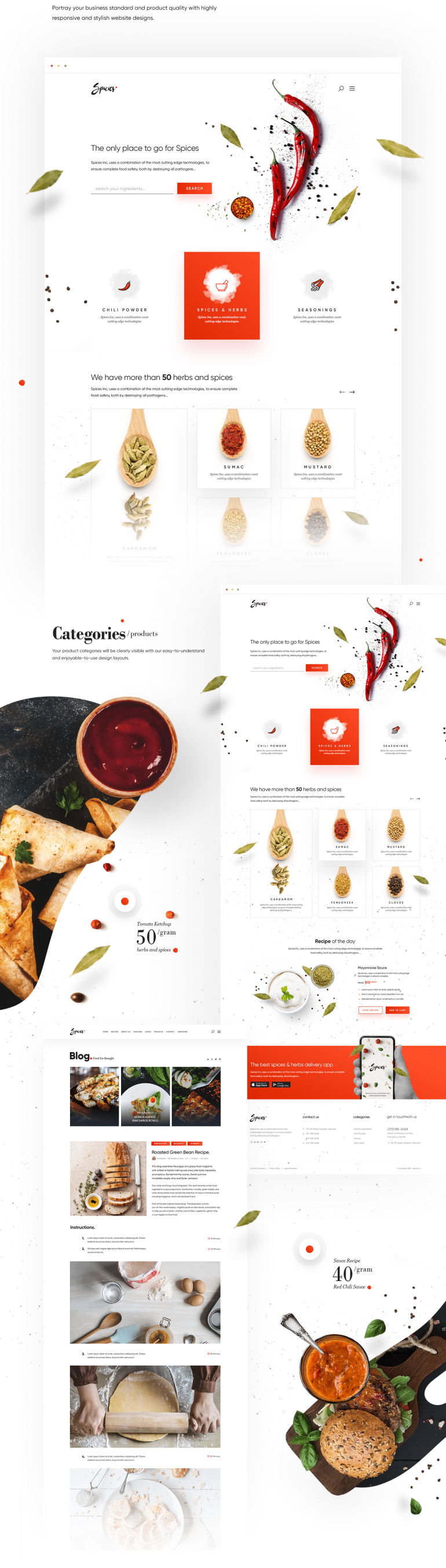 Recipes & Spice Website and Branding.