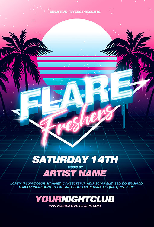 80's Club Flyer Template