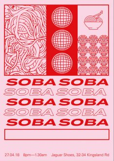 SOBA event poster