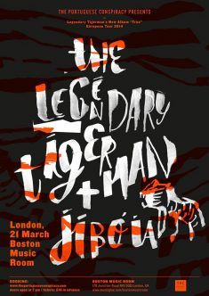 The Legendary Tigerman + Jibóia poster