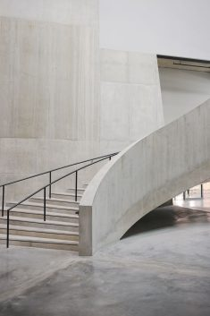 Concrete staircase in the new Switch House at Tate Modern