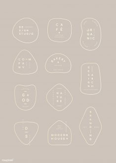 Simple pastel minimal badge collection vectors