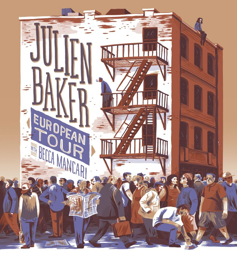 Julien Baker European Tour Poster