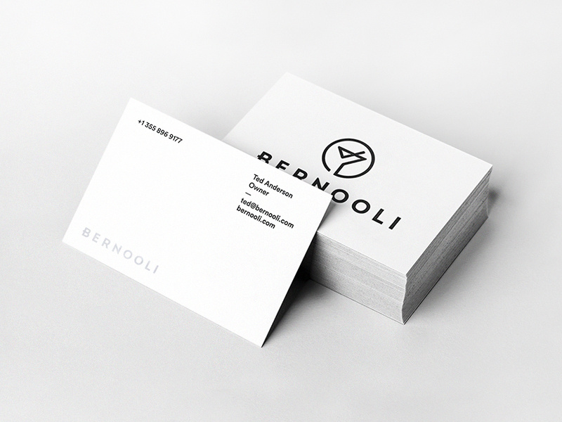 Biz cards created for Bernooli.