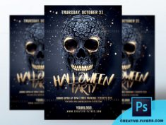 Halloween Party Flyer PSD
