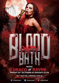 Bloodbath Halloween Flyer