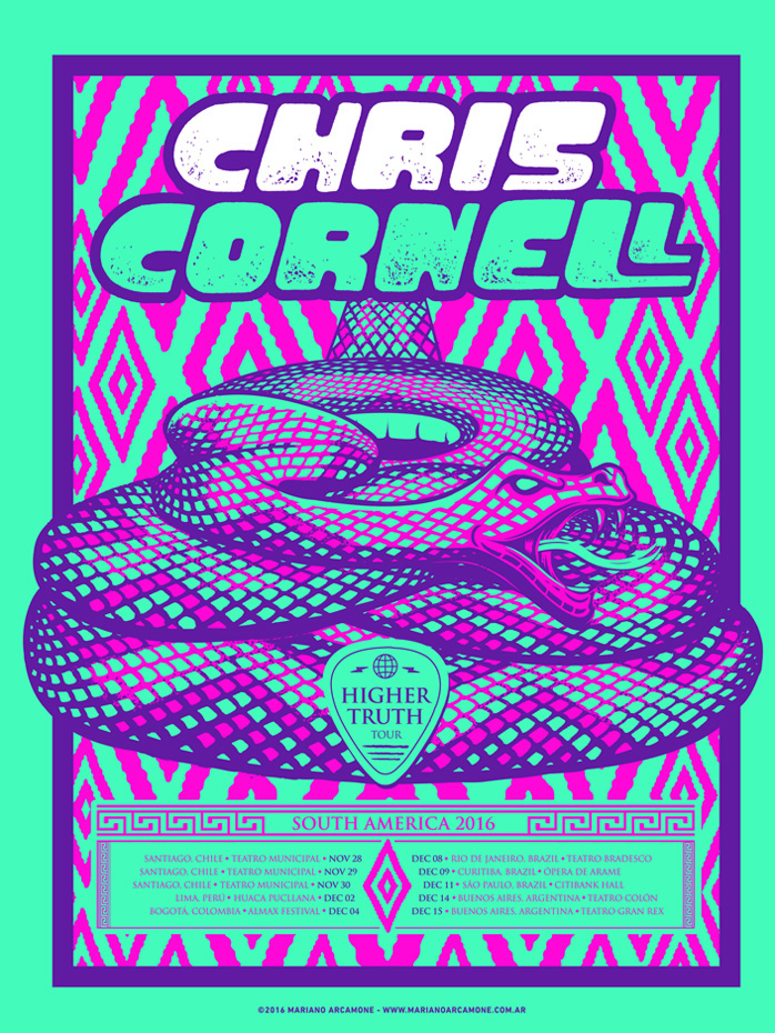 Chris Cornell- South American Tour Poster
