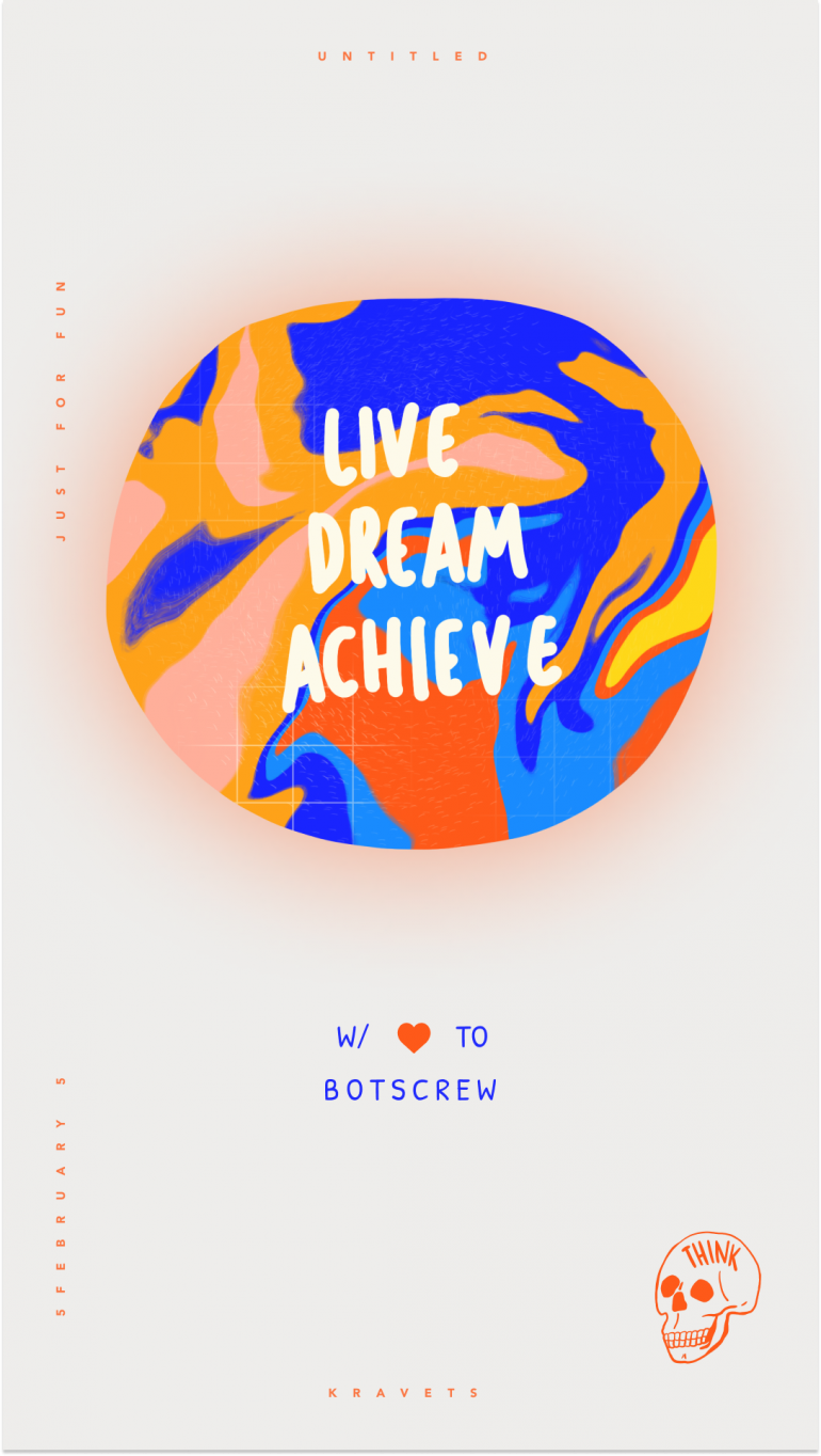 Live Dream Achieve Poster