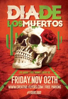 Dia De Los Muertos Flyer Templates (PSD Files)