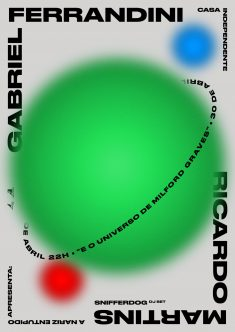 Poster for a show curated by Nariz Entupido