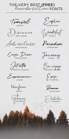16 FREE HANDWRITTEN FONTS FOR BLOGGERS IN 2019