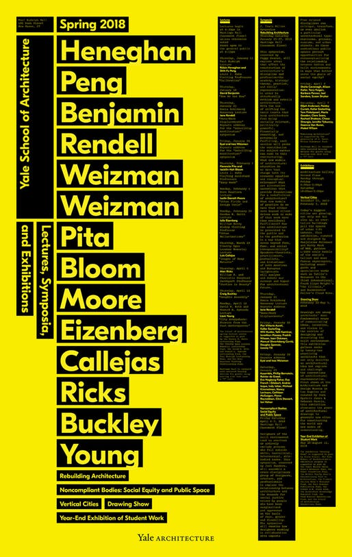 Get Lectured: Yale, Spring '18