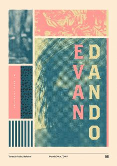 Gig poster project – Evan Dano