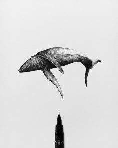 Free swimming (dotwork)