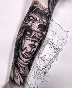 Wolf Headdress Tattoo