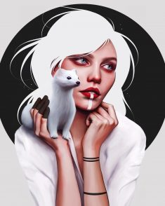 The white ermine🖤 Inspired by Leonardo Da Vinci's