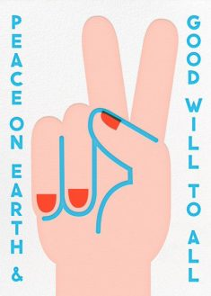 Peace Sign (Blue Trim) – online at Paperless Post