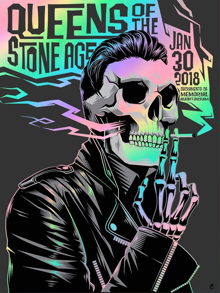 Queens Of The Stone Age Sacramento 2018 (Foil Variant)