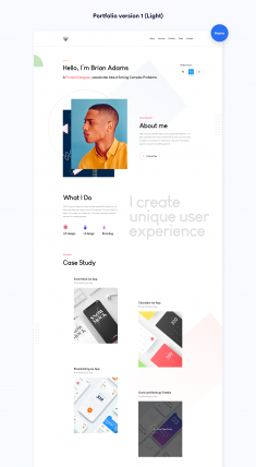 Sleek Portfolio HTML Template