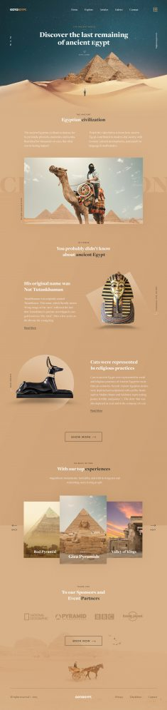 GOTOEGYPT – Travel Landing Page